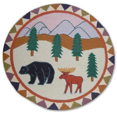 "Patch Magic Mountain Whispers 36"" Round Novelty Area Rug"