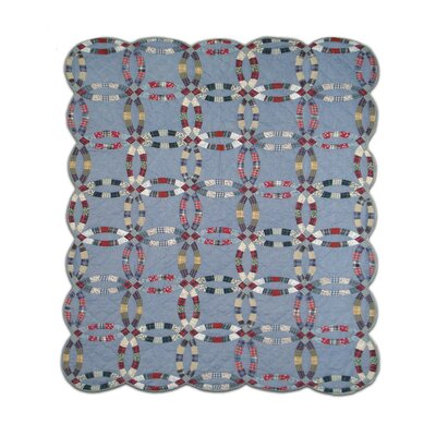 Patch Magic Denim Double Wedding Ring Quilt