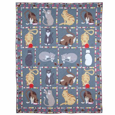Patch Magic Kitty Cat Twin Cotton Quilt