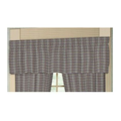 """Patch Magic Red Lines and Off White Plaid 54"""" Curtain Valance"""