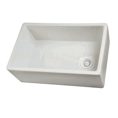 "29.75"" x 17.88"" Single Bowl Fire Clay Farmhouse Kitchen Sink Product Photo"