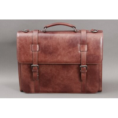 Leather Laptop Briefcase by Dr. Koffer Fine Leather Accessories