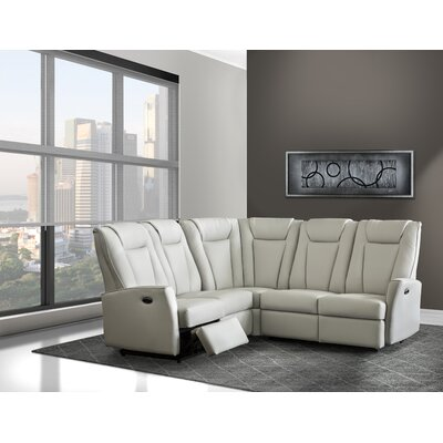 Langdon Leather Sectional by Relaxon