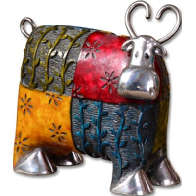 Uttermost 3 Piece Colorful Cows Accessories Figurine Set