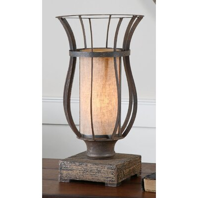 uttermost minozzo 18 h table lamp with drum shade. Black Bedroom Furniture Sets. Home Design Ideas