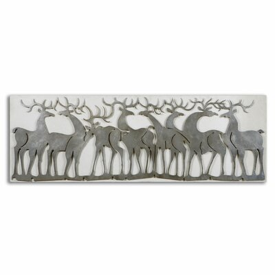 Herd of Deer Graphic Art Shadow Box by Uttermost