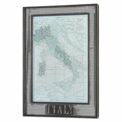 Italy Map by Grace Feyock by Uttermost