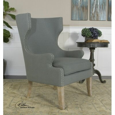 Graycie High Back Wing Chair by Uttermost
