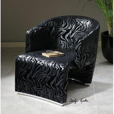 Yareli Zebra Accent Chair by Uttermost
