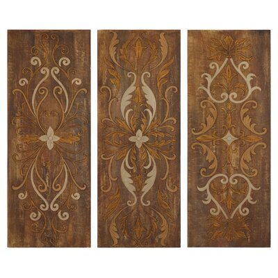 Elegant Swirl Panels by Grace Feyock 3 Piece Original Painting on Canvas Set by Uttermost ...