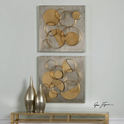 Hanlon Metal Squares 2 Piece Framed Wall Art by Uttermost