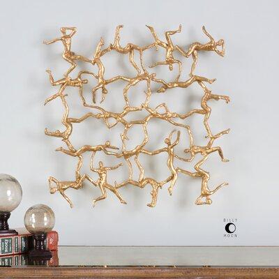 Golden Gymnasts Framed Wall Art by Uttermost
