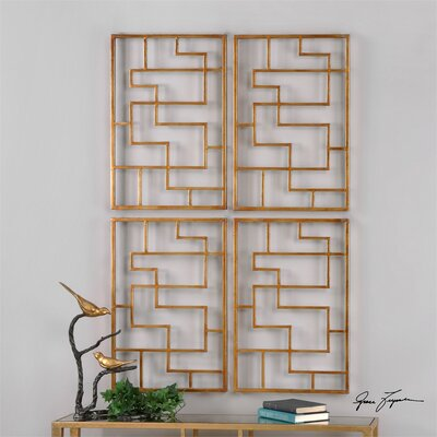 Quaid Gold 2 Piece Framed Wall Art by Uttermost