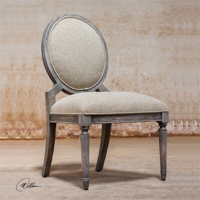 Kamila Driftwood Armless Chair by Uttermost