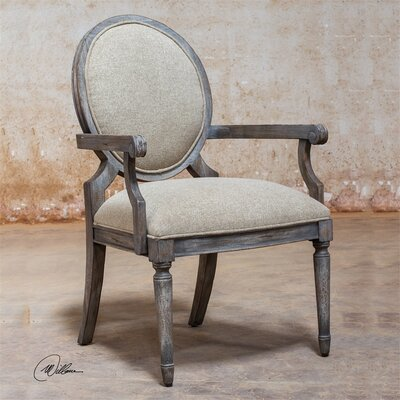 Kamila Driftwood Arm Chair by Uttermost