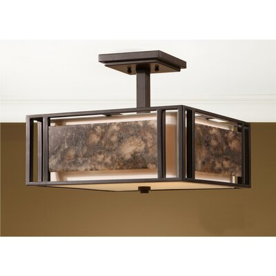 Quarry 3 Light Semi Flush Mount Product Photo