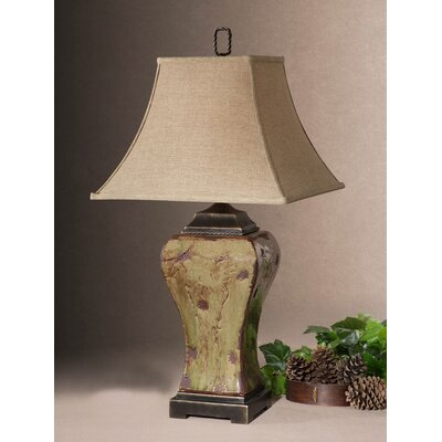 "Uttermost Porano 36"" H Table Lamp with Bell Shade"
