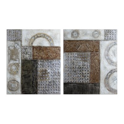 Connection by Carolyn Kinder 2 Piece Original Painting on Canvas Set by Uttermost