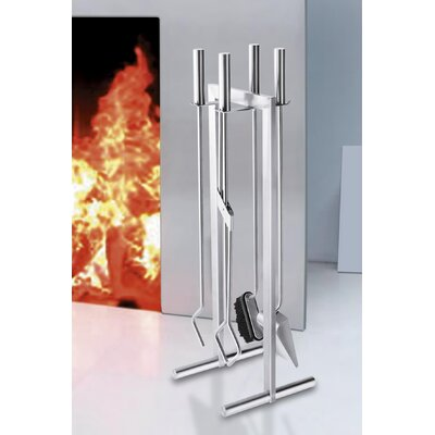 ZACK Calore 5 Piece Stainless Steel Fireplace Tool Set