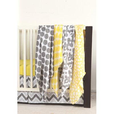 Ikat Dots/Giraffe 4 Piece Swaddling Muslin Blanket Set by Bacati
