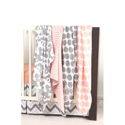 Ikat Dots/Stripes 2 Piece Muslin Security Blanket Set by Bacati