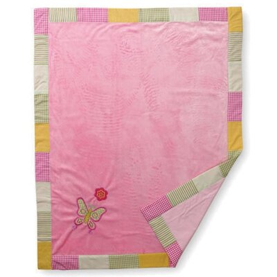Soft Velour Embroidery Blanket by Bacati