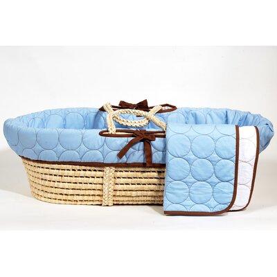 Bacati Quilted Circles Moses Basket Bacati