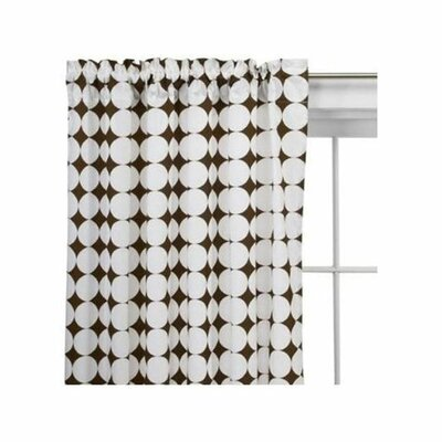 Bacati Reverse Dots Cotton Rod Pocket Single Curtain Panel