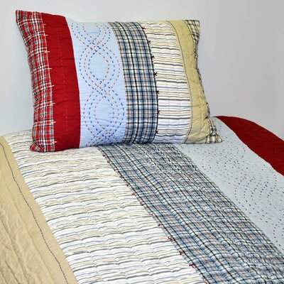 Boys Stripes and Plaids Quilt by Bacati