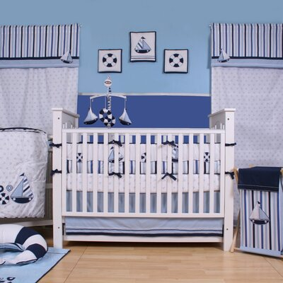 Little Sailor 10 Piece Crib Bedding Set with Bumper by Bacati