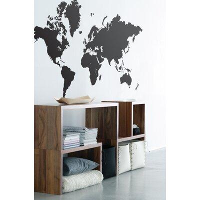 ferm living world map wall decal reviews wayfair. Black Bedroom Furniture Sets. Home Design Ideas
