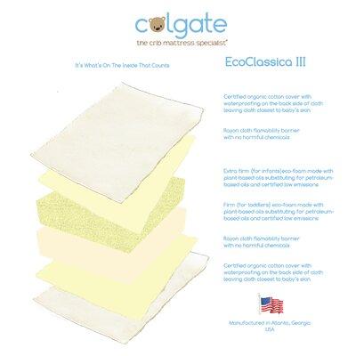 Colgate Eco Classica III Dual Firmness Foam Crib Mattress