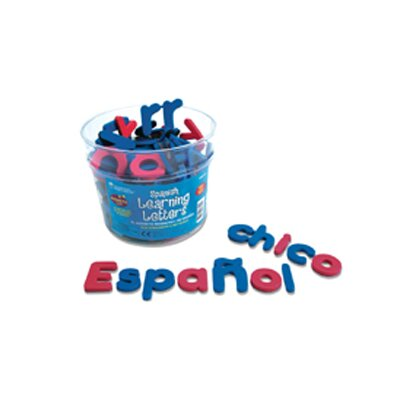 Learning Resources 120 Piece Spanish Magnetic Foam Learning Letters Set