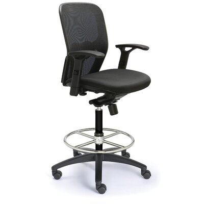 Height Adjustable Drafting Polo Chair with Mesh Back by Valo