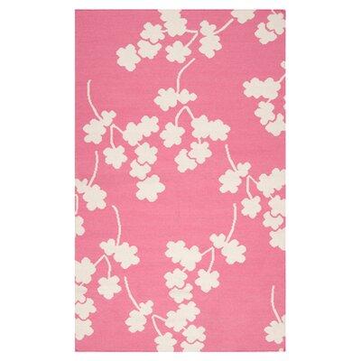 Jill Rosenwald Rugs Fallon Flamingo Pink Area Rug