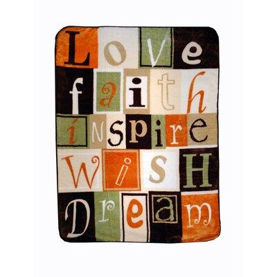 Love Faith Inspire Throw Blanket by Shavel