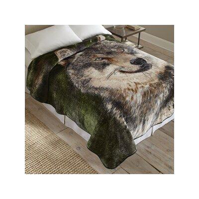 Wolf Portrait Throw Blanket by Shavel