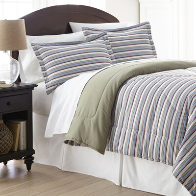 Micro Flannel® Awning Stripe Comforter Set by Shavel