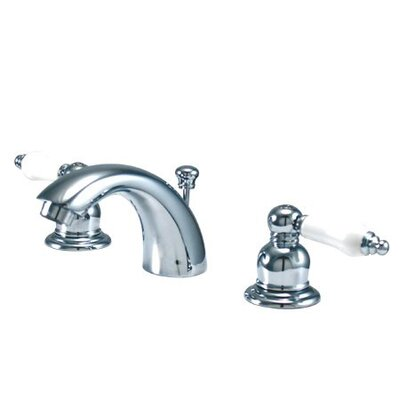 Elizabeth Mini Widespread Bathroom Faucet with Double Porcelain Lever Handles Product Photo