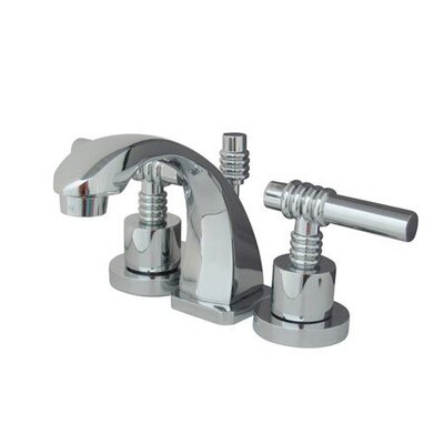 Milano Mini Widespread Bathroom Faucet with Double Lever Handles Product Photo