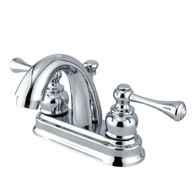 Vintage Centerset Bathroom Faucet with Double Lever Handles Product Photo