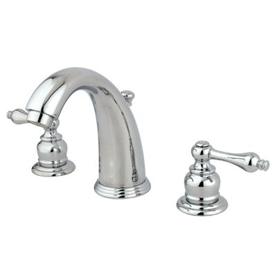 Elements of Design Widespread Bathroom Faucet with Double Metal Lever Handles