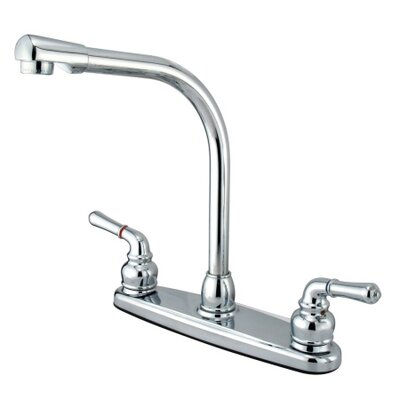 High Arch Double Handle Centerset Kitchen Faucet with Magellan Lever Handles by Elements of ...