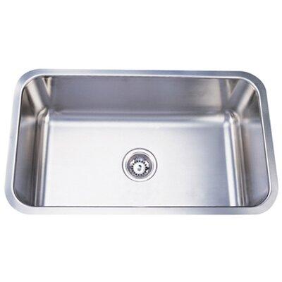 """Elements of Design 30.13"""" x 17.88"""" x 10"""" Undermount Single Bowl Kitchen Sink"""
