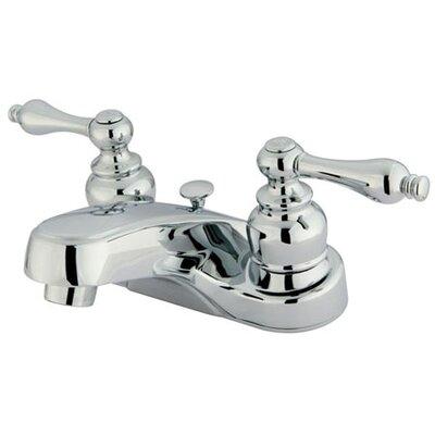 Elements of Design Centerset Bathroom Faucet with Double Lever Handles