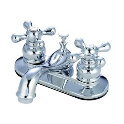 Elizabeth Centerset Faucet with Double Metal Cross Handles Product Photo