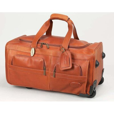 Claire chase luggage 22 2 wheeled leather travel duffel reviews wayfair for Leather luggage wheeled duffel