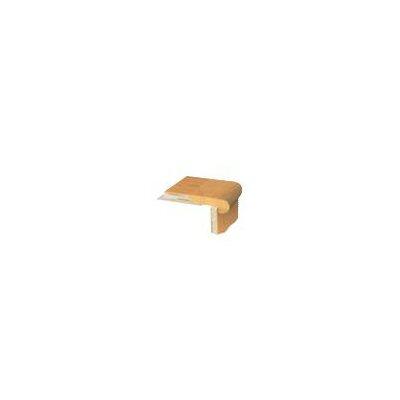 """APC Cork 1.06"""" x 3.5"""" x78"""" Birch Stair Nose Trim in Hematite"""