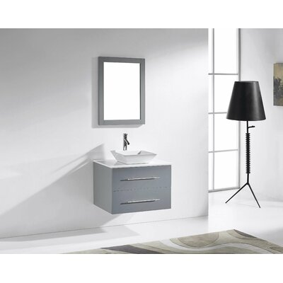 Virtu Ultra Modern 30 Single Marsala Bathroom Vanity Set
