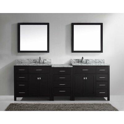 "Caroline Parkway 93"" Double Bathroom Vanity Set with Mirror Product Photo"